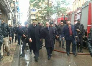 السيطرة على حريق نشب في عقار بالإسكندرية