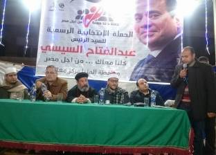 عرض إنجازات السيسي في مؤتمر حاشد بقرية أبا البلد بالمنيا