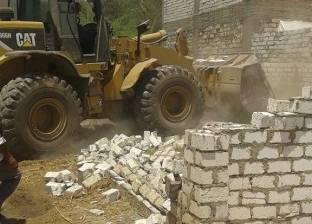إزالة 51 حالة تعد على أراضي الدولة بمركز ملوي بالمنيا