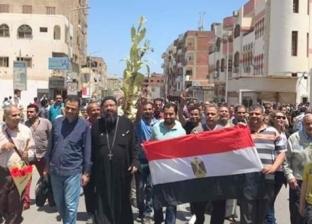 لأجل الله والوطن.. أساقفة الغردقة يقودون مسيرة لتأييد تعديل الدستور