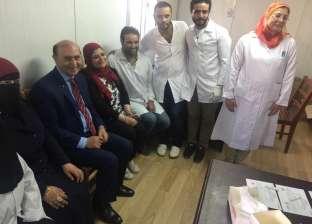 """""""مميش"""" يتفقد حملة مركز الفيروسات الكبدية التابع للهيئة ببورسعيد"""