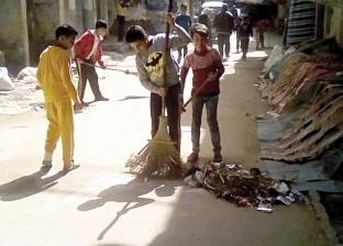 50 طفلاً يشاركون فى تنظيف وتجميل الشوارع: ابدأ بنفسك