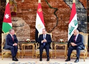 قادة «مصر والأردن والعراق»: استكمال المعركة الشاملة ضد الإرهاب.. ومواجهة داعميه بالتمويل والتسليح وتوفير الملاذات الآمِنة