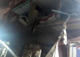 سقوط أجزاء من 3 عقارات ونشوب حريق في مصعد غرب الإسكندرية