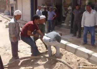 رئيس مدينة الأقصر يتابع أعمال تطوير ورفع كفاءة شارع المدينة المنورة