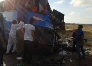 إصابة اثنين إثر انقلاب سيارة نقل أموال بالطريق الصحراوي غرب الإسكندرية