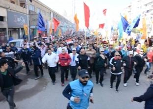 """بالصور  ماراثون مشي وجري لـ""""شباب كفرالشيخ"""" احتفالا بعيد الشرطة"""