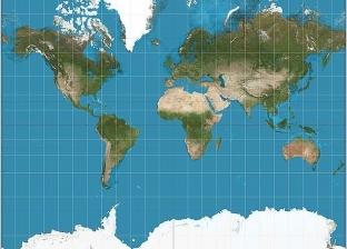 """اكتشاف جديد.. خريطة العالم """"مشوهة"""" وإفريقيا أكبر من أمريكا الشمالية"""