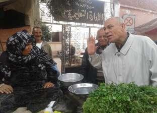 حملة لإزالة إشغالات الطريق العام بحي وسط الإسكندرية