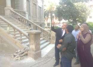"""محافظ أسيوط يتابع ترميم قصر """"ألكسان"""" تمهيدا لافتتاحه متحفا للمحافظة"""