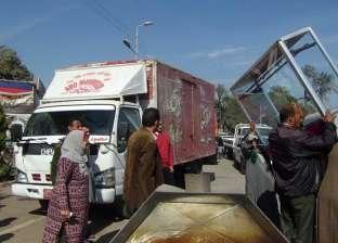بالصور  رئيس مركز الفتح تقود حملة لإزالة اشغالات طريق أسيوط الجديد