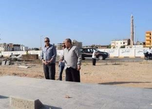 محافظ البحر الأحمر يتفقد أعمال تطوير مقابر الشهداء بالغردقة