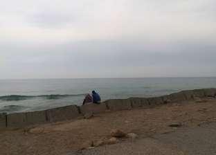 أمطار غزيرة وتوقف حركة الصيد في بوغاز عزبة البرج بدمياط