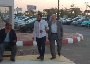 ريهام عبد الغفور وعبد الرحمن أبو زهرة أول الحضور بعزاء عزت أبو عوف