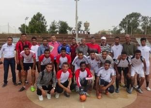 إقبال طلابي كثيف بدوري جامعة المنيا للألعاب الفردية والجماعية
