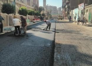 بدء رصف شارع النميس بحي شرق في أسيوط والانتهاء من توصيل الخدمات