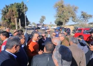 بالصور| وزير النقل يتفقد أعمال تطوير طريق المنيا /ابوقرقاص