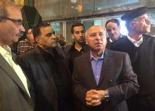 """كامل الوزير يتفقد العمل بـ""""محطة مصر"""" في زيارة مفاجئة"""