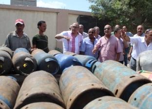 ضبط 270 أسطوانة بوتجاز خارج المستودع في حملة بالإسكندرية