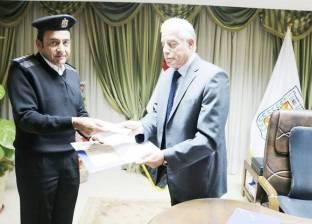 """""""فودة"""" يكرم مديري إدارة المرور والحماية المدنية بجنوب سيناء"""