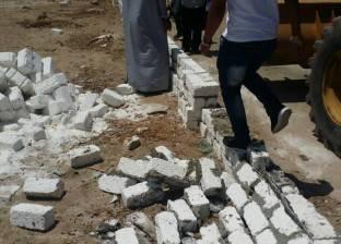 إزالة 21 حالة تعدٍ على الأرض الزراعية وأملاك الدولة في كفر الشيخ