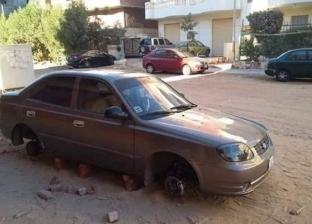 """لصوص يسرقون إطارات السيارات بالسلام في السويس: """"بيحطوا بدالها طوب"""""""