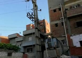 بالفيديو| الغربية.. أسلاك الضغط العالى تهدد 500 أسرة بقرية «منشأة سليمان»
