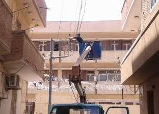 بالصور  رئيس مدينة فوة بكفر الشيخ يوجه بإصلاح وصيانة أعمدة الكهرباء