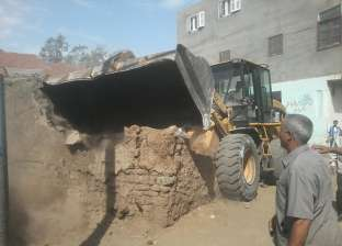 إزالة تعديات على 1038 مترا مربعا بأملاك الدولة في أجا بالدقهلية