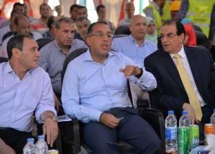 وزير الإسكان ومحافظ الدقهلية يضعان حجر أساس مدينة المنصورة الجديدة