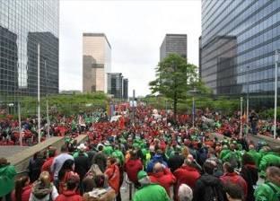 مظاهرة طلابية في بروكسل لصالح حماية البيئة