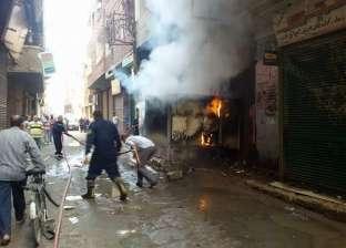الحماية المدنية بالمنوفية تنجح في السيطرة على حريق ضخم شب بشقة بمركز الشهداء
