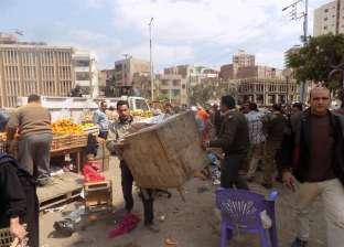"""حملات إزالة لاستقبال """"إسماعيل"""" في الدقهلية.. وأصحاب الأكشاك غاضبون: لدينا تراخيص"""
