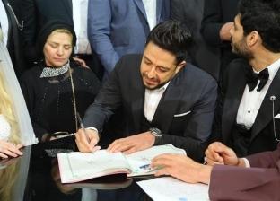 محمد حماقي يشهد على عقد قران علي جبر