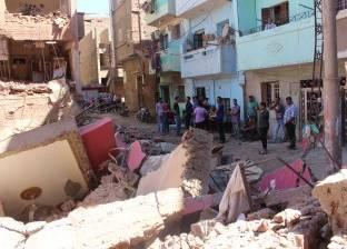 إصابة شخص انهار عليه منزل قديم بقرية في القوصية بأسيوط