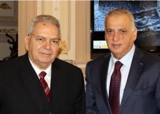 """رئيس """"القضاء الأعلى"""" يلتقي نظيره الفلسطيني في دار القضاء العالي"""