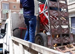 حملة لإزالة الاشغالات بمنطقة أبو السعود بمصر القديمة