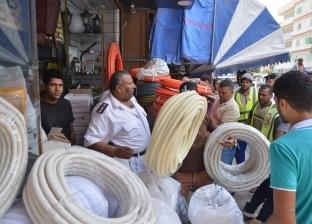 تحرير 28 محضر إشغالات بشوارع وميادين مرسى مطروح
