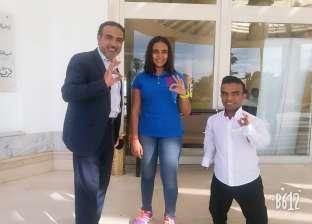 بطلة الغطس ريم أشرف تشارك في مهرجان قصار القامة بشرم الشيخ