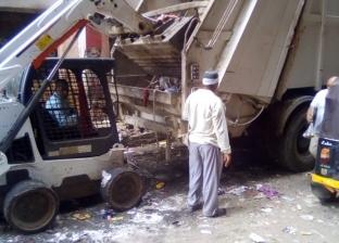 الجيزة: حملات مكثفة لرفع القمامة حول مجمع مدارس بشتيل
