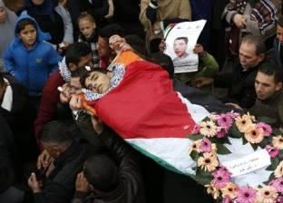 """جنازة عسكرية للشهيد الفلسطيني """"أيمن حامد"""" في رام الله"""