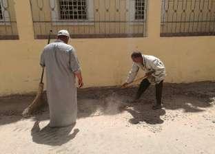 حملة نظافة ورفع قمامة بقرى مدينة طما بسوهاج