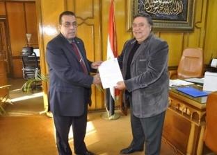 حسن يوسف مشرفا على معهد الدراسات الأفروآسيوية بجامعة القناة