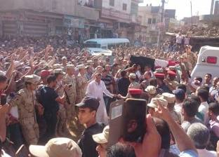 بالصور| جنازة مهيبة لقائد المنطقة الشمالية العسكرية في قريته بالدقهلية
