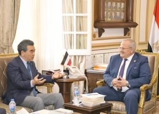 الخشت يبحث مع رئيس جامعة هيروشيما سبل التعاون في المجال الإكاديمي