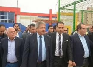 """وزير الرياضة ومحافظ بورسعيد يتفقدان مشروع """"المدينة الرياضية"""""""