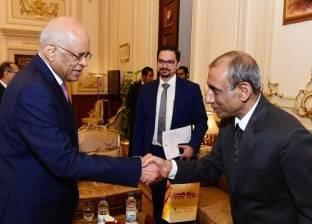 وصول رئيس مجلس النواب إلى عزاء شقيق بهاء أبوشقة