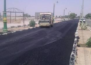 """""""تعمير الوادي الجديد"""": تنفيذ 80% من مشروع رصف مداخل قرى الداخلة وبلاط"""