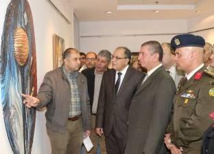 بالصور| محافظ كفر الشيخ ومدير الأمن يفتتحان معرض الفنون التشكيلية