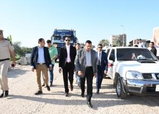 """محافظ البحيرة يتفقد أعمال رصف طريق """"دمنهور- دسوق"""""""